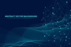 Futurystyczna abstrakcjonistyczna wektorowa tła blockchain technologia Rówieśnik przyglądać się sieć biznesu pojęcie globalny ilustracji