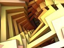 Futurystyczna cyfrowa 3d sztuki fractal ilustracja - spojrzenie w nieskończoności royalty ilustracja