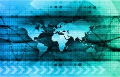 Futurystyczna Cyfrowa sieć ilustracja wektor