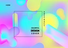 Futurystyczna gradientowa siatka kolorowe tła abstrakcyjne Zdjęcie Stock