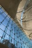 Futurystyczna krypta w muzeum historia Polscy żyd w Warszawa Obrazy Stock