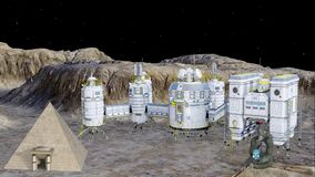 Futurystyczna księżyc koloni animacja zbiory wideo