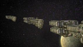 Futurystyczna MoonTrain karawany animacja zbiory wideo