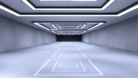 Futurystyczna sala architektura Obrazy Stock