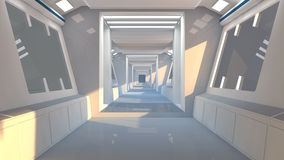 Futurystyczna Scifi wnętrza architektura Obraz Royalty Free
