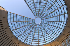 Futurystyczna stali kopuła - Rovereto Włochy Fotografia Stock