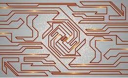 Futurystyczna techno tekstura, abstrakcjonistyczna technologii ilustracja Obraz Royalty Free