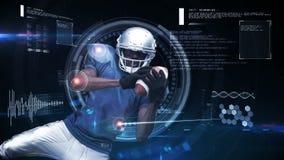 Futurystyczna technologia tropi atleta ruchy ilustracji