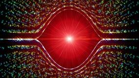 Futurystyczna technologii światła cząsteczki animacja, 4096x2304 4K pętla ilustracja wektor