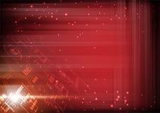 Futurystyczna technologii ilustracja, czerwone cyfry z lekką siatką a Royalty Ilustracja