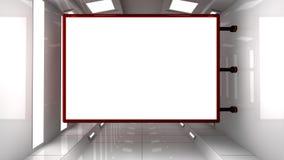 Futurystyczna wewnętrzna architektura i rama Fotografia Stock