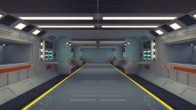 Futurystyczna wewnętrzna architektura buiding Zdjęcie Royalty Free