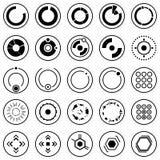 futurystyczne ikony Set infographic symbole dla interfejsu użytkownika i elementy Fotografia Royalty Free