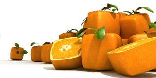 futurystyczne pomarańcze Zdjęcia Royalty Free