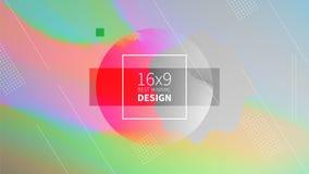 Futurystycznego projekta stubarwny tło Szablony dla plakatów, sztandarów, ulotek, prezentacj i raportów, Minimalny geometryczny, Obrazy Royalty Free