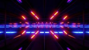 Futurystycznego scifi szklany tunelowy tło 3d odpłaca się ilustracji