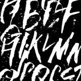 Futurystycznej kaligrafii Alfabetyczny tło Czarny i biały kolory Colapen rysunek Zdjęcia Stock