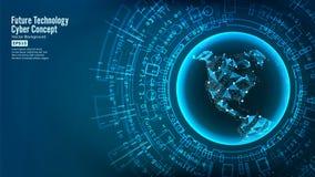 Futurystycznej technologii Podłączeniowa struktura pochodzenie wektora abstrakcyjne Przyszłościowy Cyber pojęcie Cyfrowego system Fotografia Royalty Free