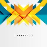 Futurystyczni geometryczni kształty, minimalny projekt Obrazy Royalty Free