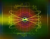 Futurystyczni przyszłościowi sci fi okręgi z internetów bu i technologią ilustracja wektor