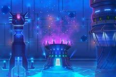 Futurystyczny środowisko wśrodku budynku, royalty ilustracja