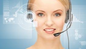 Futurystyczny żeński helpline operator obrazy royalty free