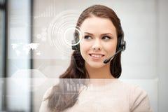 Futurystyczny żeński helpline operator zdjęcia stock
