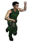 Futurystyczny żołnierz ilustracja wektor