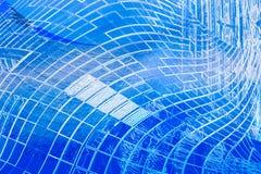 futurystyczny abstrakcjonistyczny błękitny projekt Fotografia Royalty Free
