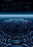 Futurystyczny abstrakcjonistyczny tło z kropkowanymi warstwami Obraz Royalty Free