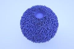 Futurystyczny abstrakta 3D budynek w ruchu Ładny 3D rendering Obraz Stock