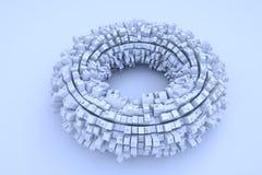Futurystyczny abstrakta 3D budynek w ruchu Ładny 3D rendering Zdjęcia Royalty Free