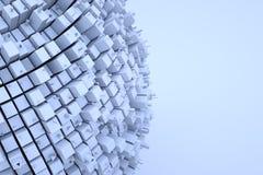 Futurystyczny abstrakta 3D budynek w ruchu Ładny 3D rendering Zdjęcie Royalty Free