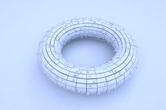 Futurystyczny abstrakta 3D budynek w ruchu Ładny 3D rendering Fotografia Stock