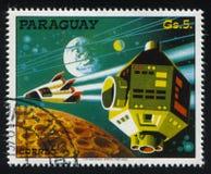 Futurystyczny astronautyczny pojazd Fotografia Royalty Free