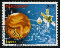 Futurystyczny astronautyczny pojazd Obraz Royalty Free