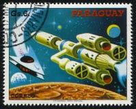 Futurystyczny astronautyczny pojazd Zdjęcia Royalty Free