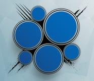 Futurystyczny błękit okrąża szablon royalty ilustracja