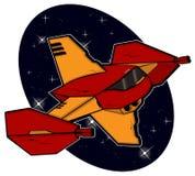 Futurystyczny bojowy starship Obraz Royalty Free