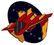 Futurystyczny bojowy starship Fotografia Royalty Free