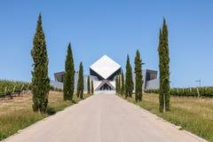 Futurystyczny budynek wytwórnii win biuro Zdjęcia Royalty Free