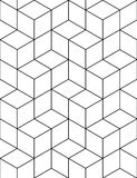 Futurystyczny ciągły kontrasta wzór, iluzoryczny motywu abstrakt Zdjęcie Royalty Free