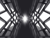 Futurystyczny ciemny tunel Obraz Royalty Free