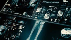 Futurystyczny cierpliwego monitoru ekran w perspektywicznym, Medycznym parawanowym interfejsie/ ilustracji