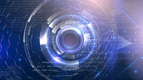 Futurystyczny cyber oko ilustracja wektor