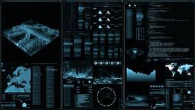 Futurystyczny cyfrowego interfejsu ekran ilustracja wektor