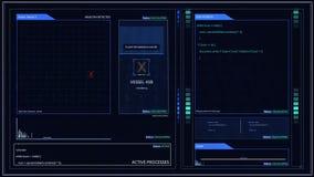 Futurystyczny Cyfrowego rejestratora lotu Czarnego pudełka ekran komputerowy lub interfejs dla kąt szpilki Compositing ilustracja wektor