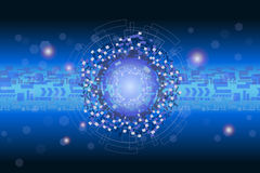 Futurystyczny cyfrowy grafiki i dane technologii pojęcie Zdjęcia Stock