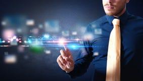 Futurystyczny dotyka ekranu interfejs Fotografia Stock