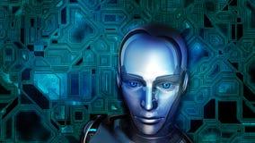 Futurystyczny Żeński android Zdjęcia Stock